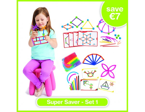 Super Saver Set 1 - JUNIOR GEOSTIX (200), SKELETAL STARTER GEO SET