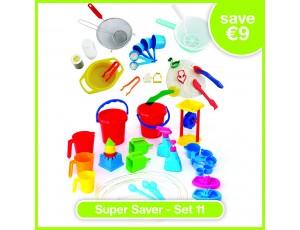 Super Saver Set 11 - MESSY PLAY TOOL SET, Large water tool set (27)