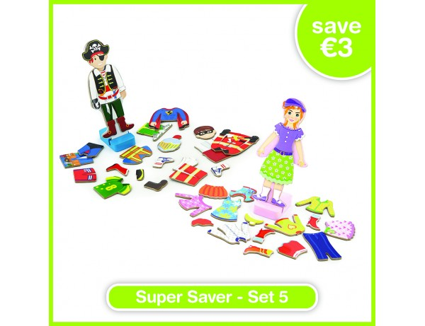 Super Saver Set 5 - Magnetic Dress Up - Girl (18m+), Magnetic Dress Up - Boy (18m+)