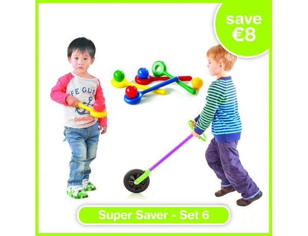 Super Saver Set 6 - BALANCING BALL SET OF 4 COLOURS, Go Wheelie