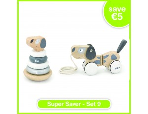Super Saver Set 9 - Pull-Along Puppy (18m+), Stacking Puppy (12m+)