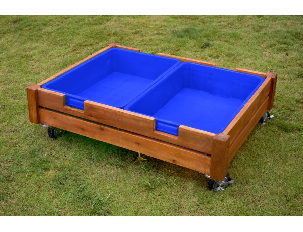 Outdoor Sandbox on Castors with 2 trays and lid (CK Premium)