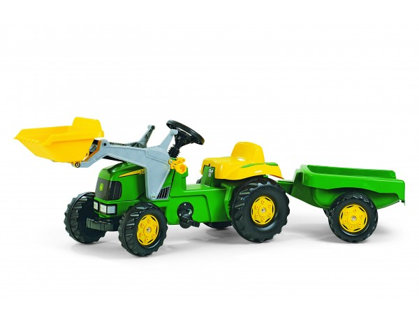 Kid John Deere Tractor With Loader and Trailer