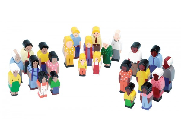 Wooden People Of The World Play Set