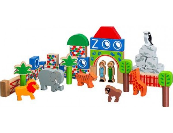 Zoo - 40 building blocks + bag