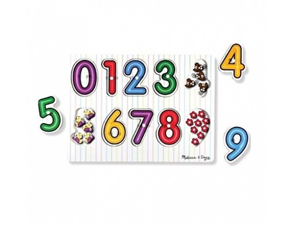 See Inside Numbers Wooden Peg Puzzle