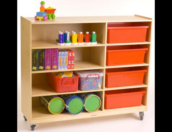 4 Shelf / 4 Cubby Unit Preschool/Afterschool