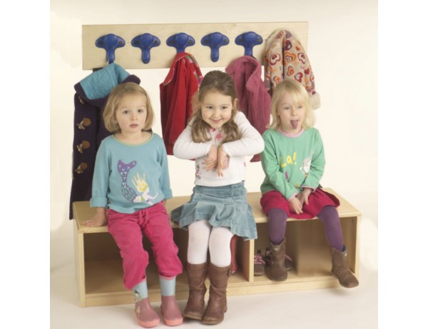 3 Cubby Bench + Safety Hooks
