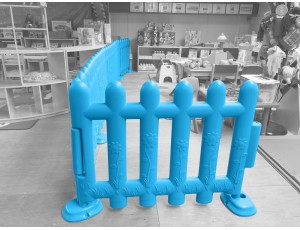 Blue Partition Fencing (Set of 4)