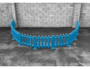 Outdoor Blue Partition Fencing (Set of 4)