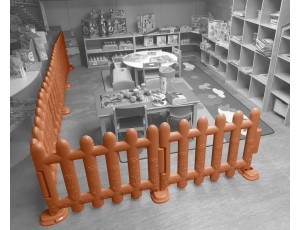 Brown Partition Fencing (Set of 4)