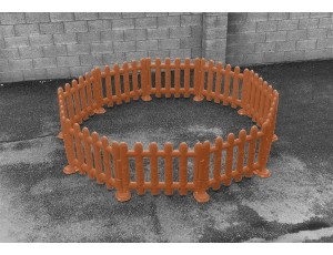 Outdoor Brown Partition Fencing (Set of 4)