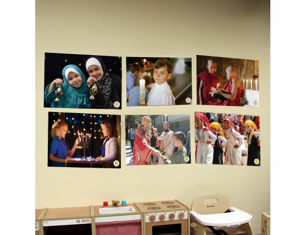 A2 Wall Posters - Religions of the World (Set of 6)