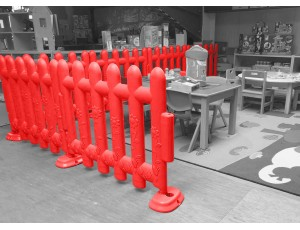 Red Partition Fencing (Set of 4)