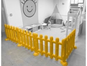 Yellow Partition Fencing (Set of 4)