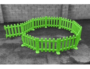 Outdoor Green Partition Fencing (Set of 4)