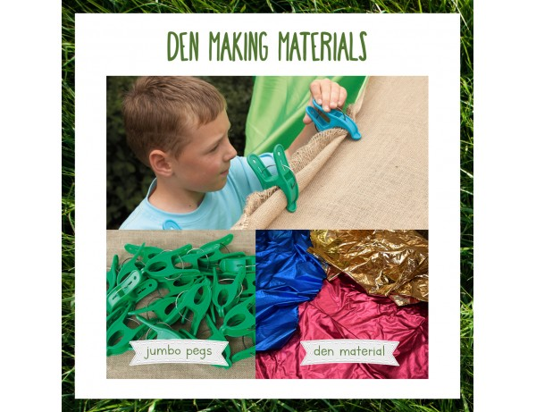 Outdoor Essentials: Den Making Materials + Giant Pegs