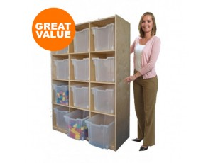 Twelve Cubby Tall Storage