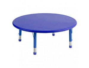 Afterschool Height Adjustable Round Table - Blue