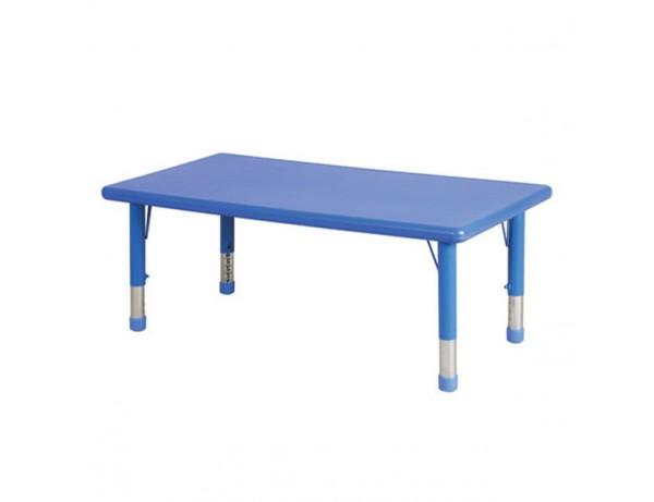 Afterschool Height Adjustable Rectangular Table
