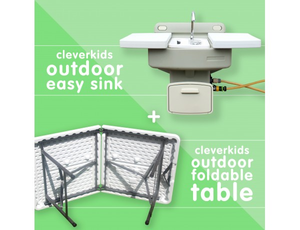 Multibuy - Outdoor Easy Sink & Foldable Table (Save €38)