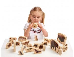 Wooden Forest Animals Blocks 12M+