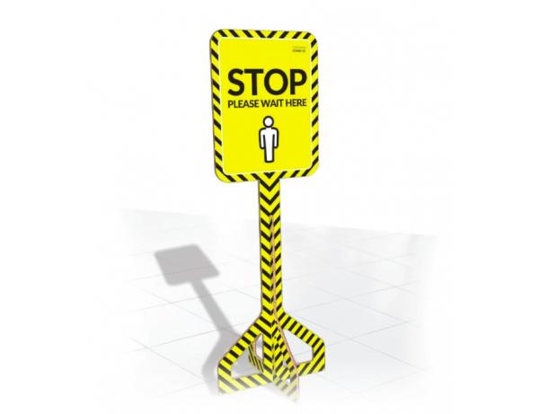 Indoor Floor Stop Signs