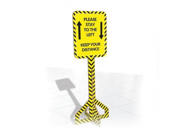 Indoor Floor Directional Sign