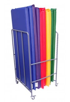Rainbow Rest Mats with Trolley Storage (Set of 10 Mats)