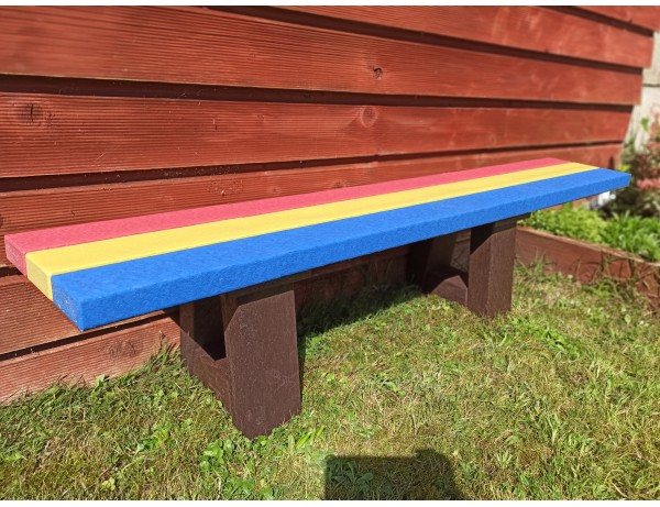 Durabel Recycled Plastic Rainbow Bench (1.5M)