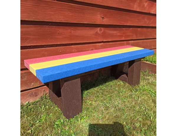 Durabel Recycled Plastic Rainbow Bench (1M)