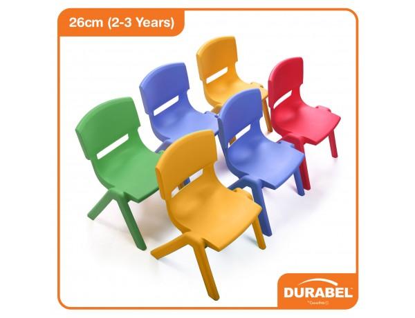 Durabel Rainbow Easy Stack Chair (26cm - 2-3 Years)
