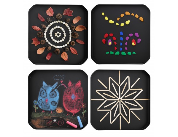 Sensory Station ACTIVITY TRAY - INFINITE BLACK (SET OF 4)