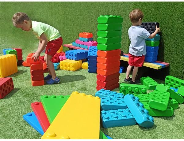 MEGGO Blocks Basic Set (53pcs) (XL BLOCKS) (Plus 4 Shelves)