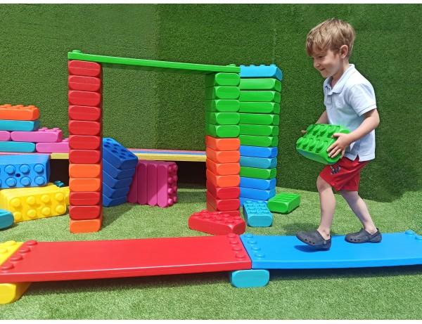 MEGGO Blocks Shelf Seat (4pcs)  (XTRA LARGE BLOCKS)