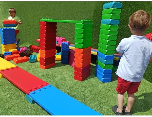 MEGGO Blocks Set (106pcs) (XL BLOCKS) (Plus 4 Shelves)