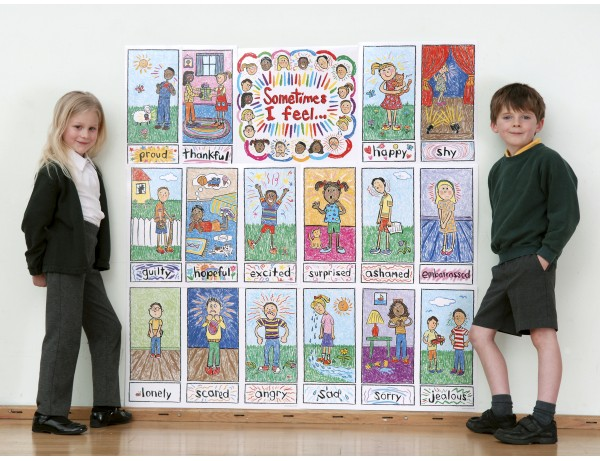Emotions Kid Drawn Bulletin Board Set 3+