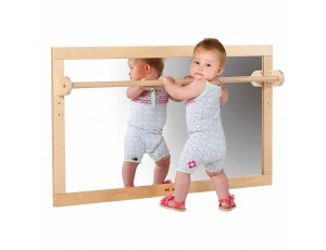 Mirror with Wooden Bar (127x69cm)