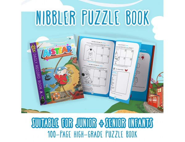 Nibblers Adventures Puzzle Book: Junior & Senior Infants