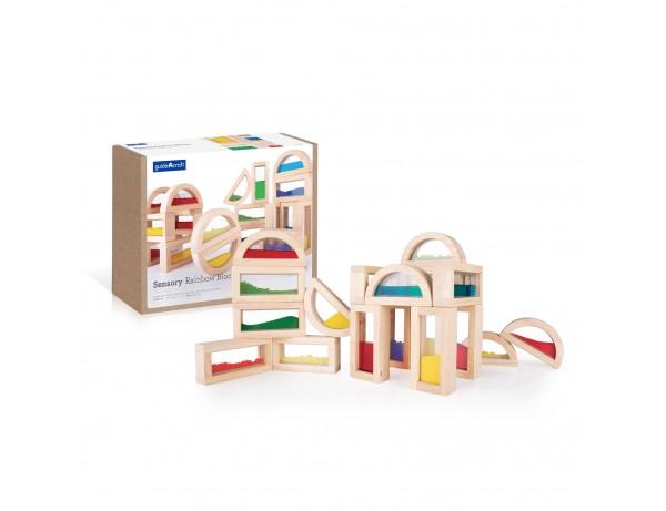 Sensory Rainbow Blocks - 18 Piece