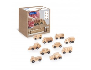 Mini Wooden Trucks - Set of 10