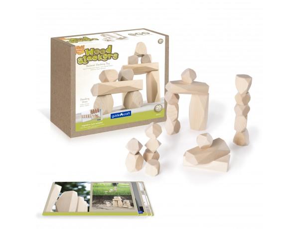 Sensory Wood Stackers Standing Stones