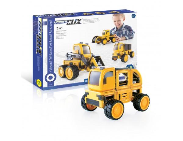 Powerclix - Construciton Vehicles Set