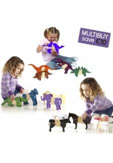 Block Mates Animals Multibuy - Safari, Farm & Dinosaurs