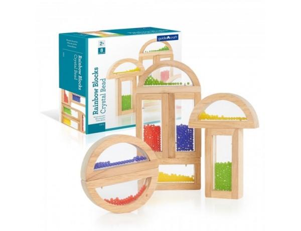 Sensory Rainbow Blocks  - Crystal Bead 10 Pcs (2+)