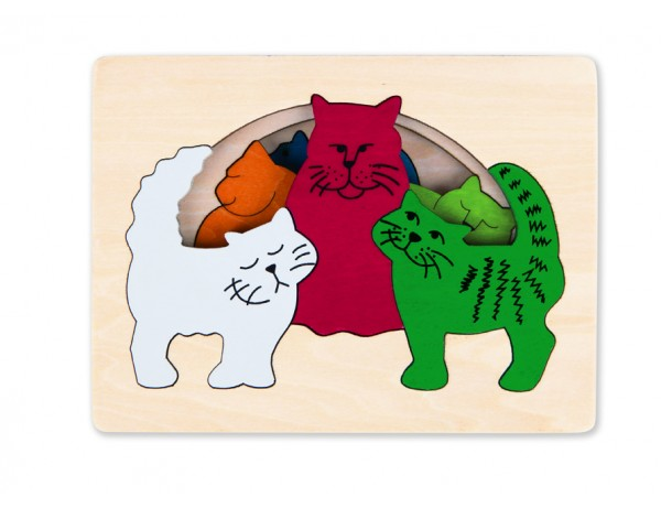 Cats Layered Puzzle