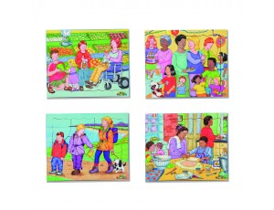 Kinds of Family No 1. Set of 4