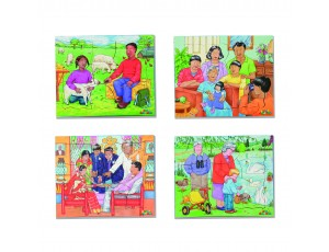 Kinds of Family No 2. Set of 4