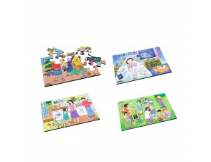 Set of 4 Emotion Puzzles 12 pcs (set1)