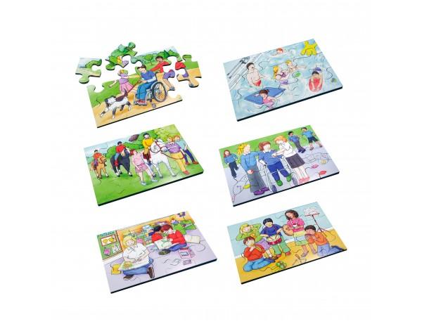 Inclusion Puzzles (Set of 6)12 pcs